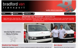 Bradford Van Transport Website